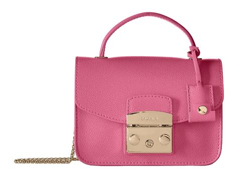 Furla Metropolis Top Handle Crossbody furla metropolis mini top handle in pink lyst