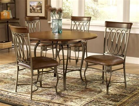 traditional wood metal dining table w