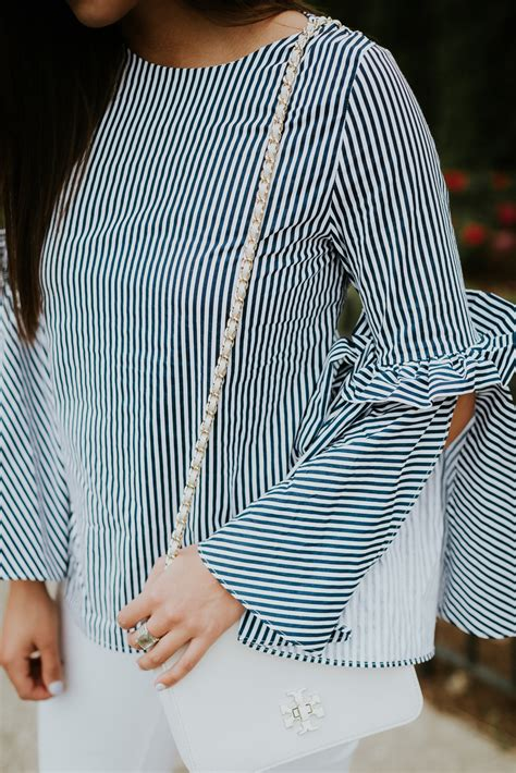 Stripe Top stripe bell sleeve top a southern drawl