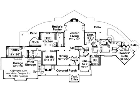 floor plan designs chalet house plans coeur d alene 30 634 associated designs