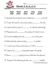 blends worksheets have fun teaching