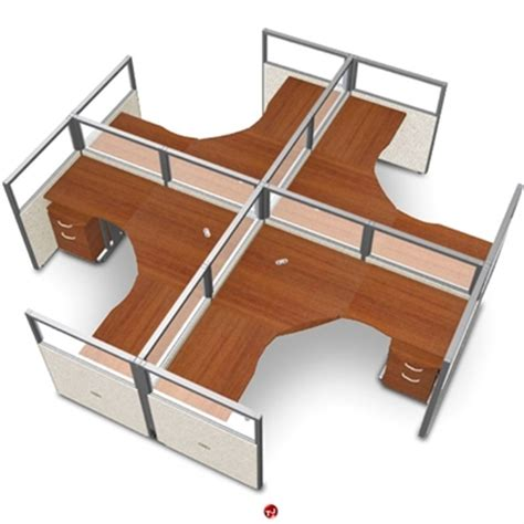 Office Cubicle Desk The Office Leader 4 Person L Shape Office Desk Cubicle Cluster Workstation