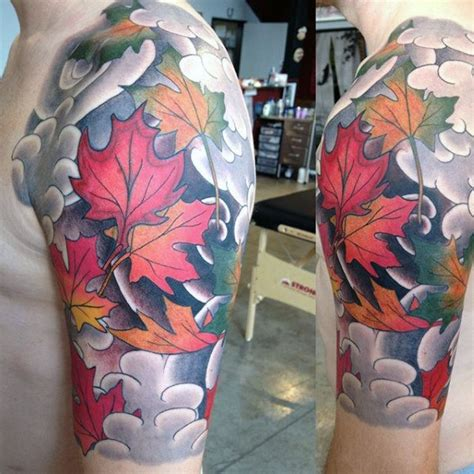 japanese maple leaf tattoo 80 maple leaf designs for canadian and