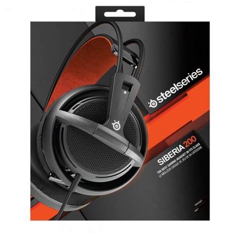 Headset Gaming Steelseries Headset Siberia 200 Black steelseries siberia 200 gaming headset black hypermart
