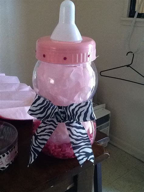 Big Baby Bottle For Baby Shower by Big Baby Bottle Used As A Centerpiece Baby Shower