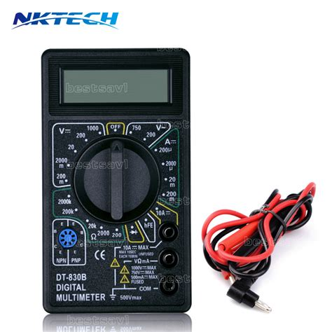Multi Tester Dt 830b Masda aliexpress buy new black tester multimeter dt 830b electric voltmeter ammeter ohm digital