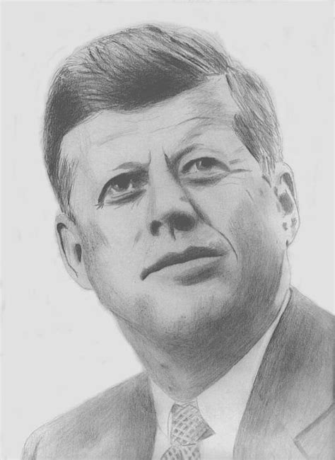 F Drawing Pencil by Pencil Sketch Of President F Kennedy Pencil