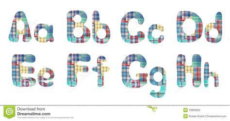 collage alphabet letters a b c d e f g h stock