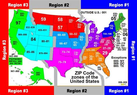 Post Office Zip Code Lookup by Postal Zone Map Webpage