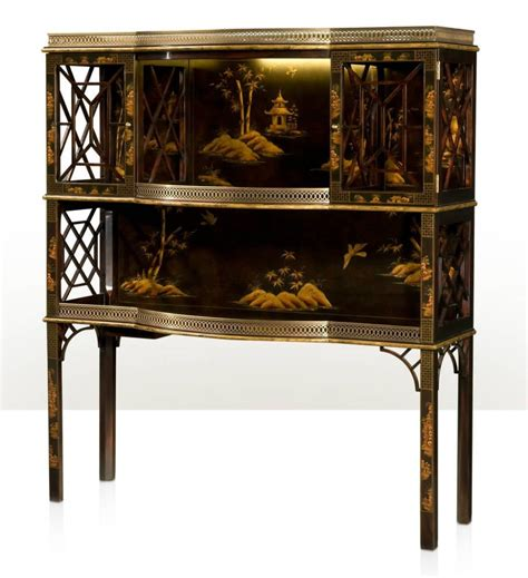 imbuya chocolate chinoiserie bar  display cabinet