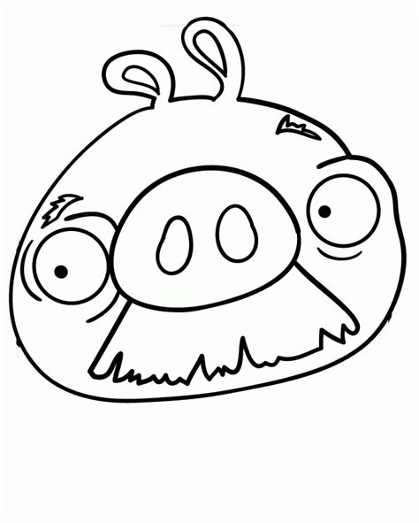 coloring pages of angry birds pigs coloring page pig coloring home