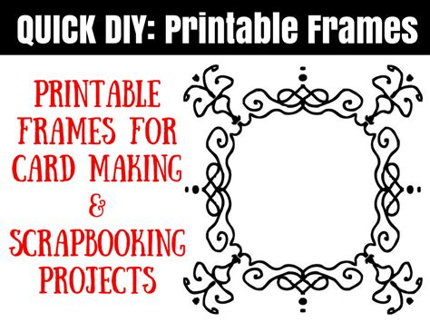 printable images for card making free printable frames for scrapbooks and card making