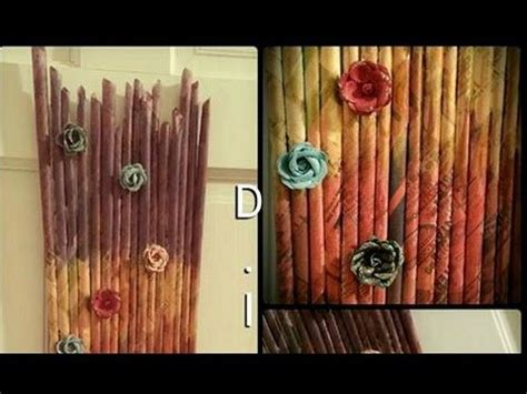 diy newspaper wall hanging paper craft for home decor