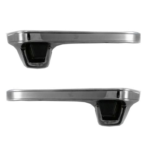 Chrome Outer Outside Exterior Door Handle Pair Set For Chrome Exterior Door Handles