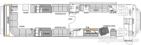 Prevost Floor Plans by Busforsale