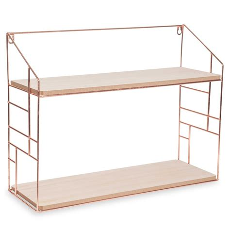 etagere 50 x 100 lulea copper metal wall shelf 38x50cm maisons du monde