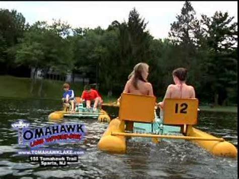lake mohawk boat rental tomahawk lake water park and picnic in nj youtube