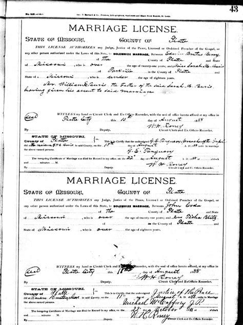 Missouri Marriage Records 1805 2002 Edwin Brutus Berry
