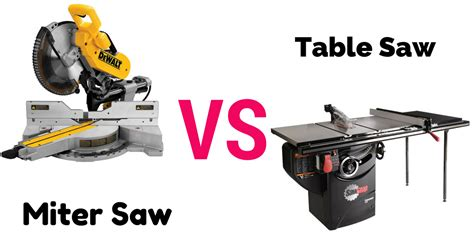 miter vs table saw compare miter saw vs table saw a thorough guideline for