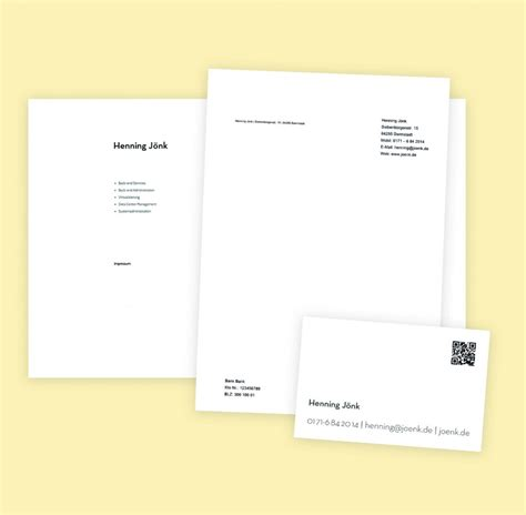 Visitenkarten Dsgvo by Webdesign Visitenkarten Und Briefpapier F 252 R Joenk De