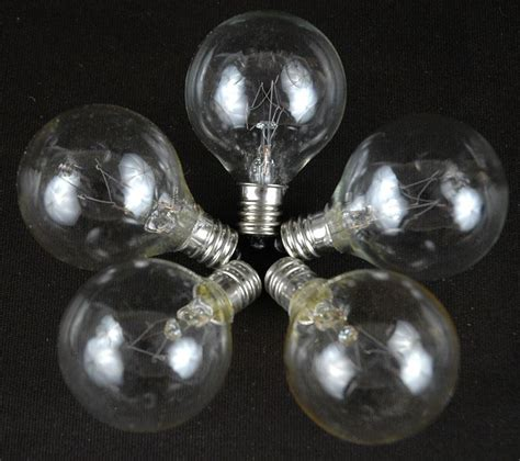 Clear G40 Globe Round Outdoor String Light Set On White Clear Globe String Lights White Wire