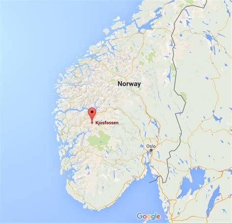kjosfossen  map norway