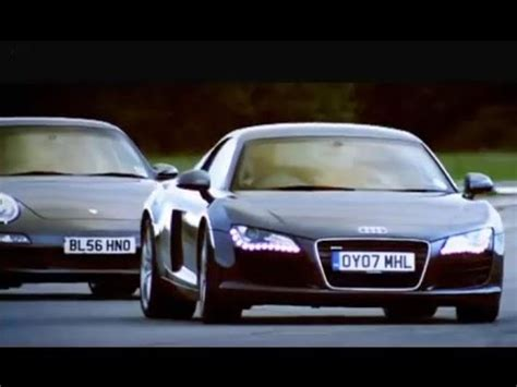Top Gear Audi R8 by Audi R8 Vs Porsche 911 Top Gear