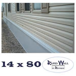 mobile home skirting home depot 14x80 rapid wall mobile home insulated skirting package