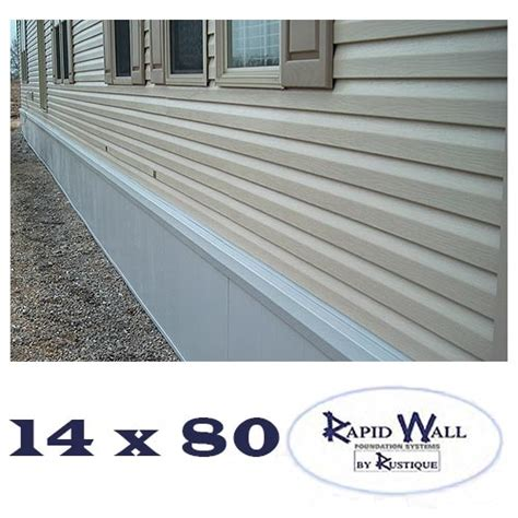 14x80 rapid wall mobile home insulated skirting package