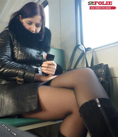 Pantyhose upskirts in real public places