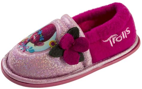 princess slippers for trolls pink princess poppy slippers booties glitter