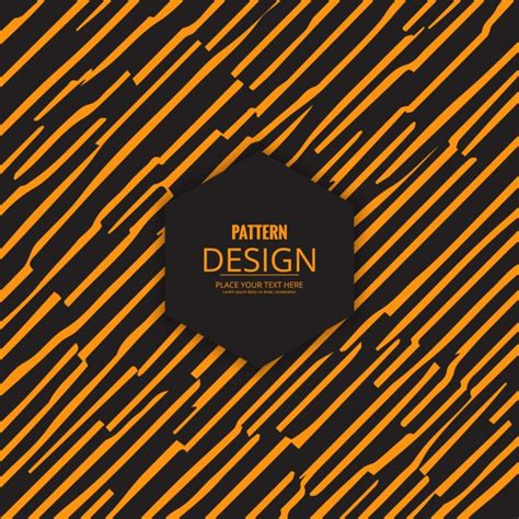 modern pattern vector ai modern pattern with hand drawn yellow stripes vector