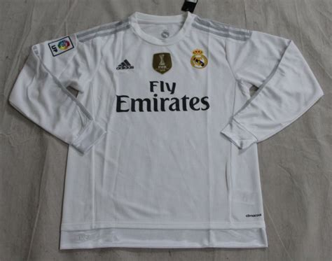 Jersey Real Madrid Home 15 16 Ls Original Bnwt Size Xl W Wcc 2015 16 real madrid home soccer jersey ls with wc chion