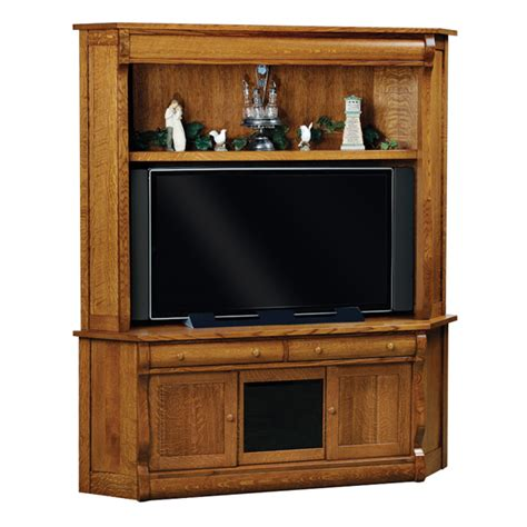 Corner Cabinet Tv by Classic Sleigh Corner Tv Cabinet Amish Entertainment
