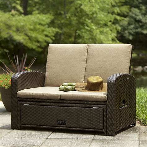 small outdoor loveseat ty pennington style bowman convertible love seat lounge bed