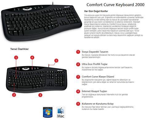 comfort curve 2000 microsoft comfort curve keyboard 2000 tr q klavye fiyatı