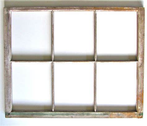 vintage wood six pane window frame ready for by marybethhale