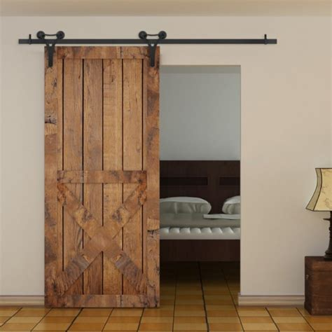 Winsoon 5 18ft 1 5 5 5m Decorative Sliding Barn Door Decorative Barn Door Track