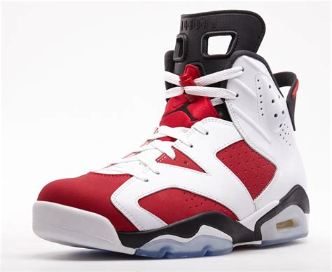 air 6 retro carmine official look release