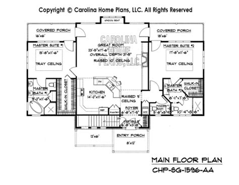 Small Craftsman Bungalow House Plan Chp Sg 1596 Aa Sq Ft 1600 Square Foot Bungalow Floor Plans