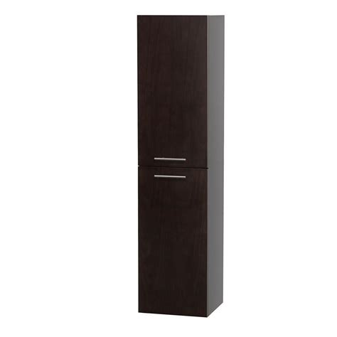 wall mounted linen cabinet bailey 56 inch wall mount linen cabinet espresso finish