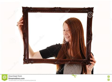 girl frame girl with picture frame stock images image 17176164