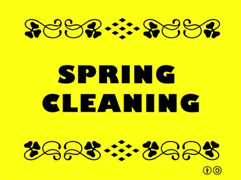 it s time for spring cleaning and we don t mean your spring is in the air and it s time to clean