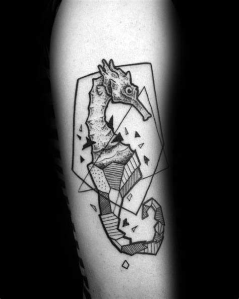 seahorse tattoo for men 60 seahorse tattoos for nautical design ideas