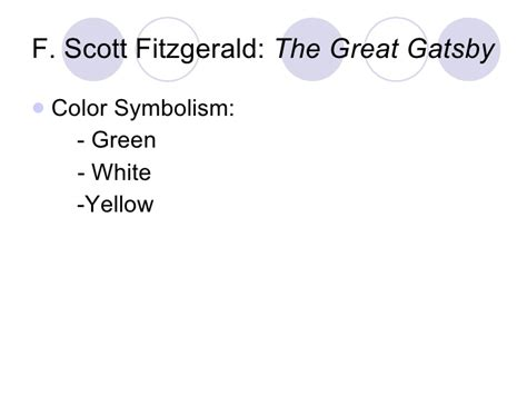 symbols in the great gatsby powerpoint yellow symbolism in gatsby the great gatsby yellow
