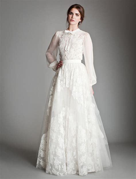 Folded Neck Fluted Dress bridal fashion week temperley bridal 2013 2014 titania
