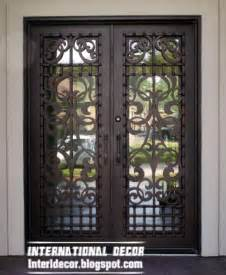 italian wrought iron glass door inserts for modern houses