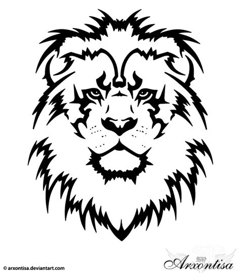 lion head tribal tattoo tattoos leo of judah and tribal