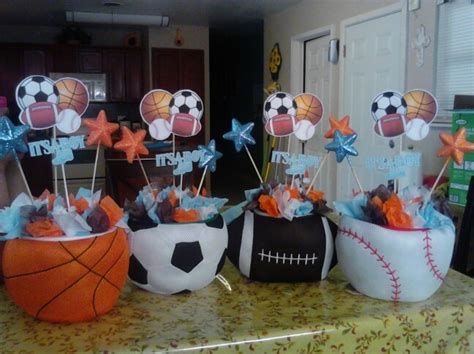 All Sports Baby Shower Table Centerpieces All Sport Baby Sports Theme Centerpieces