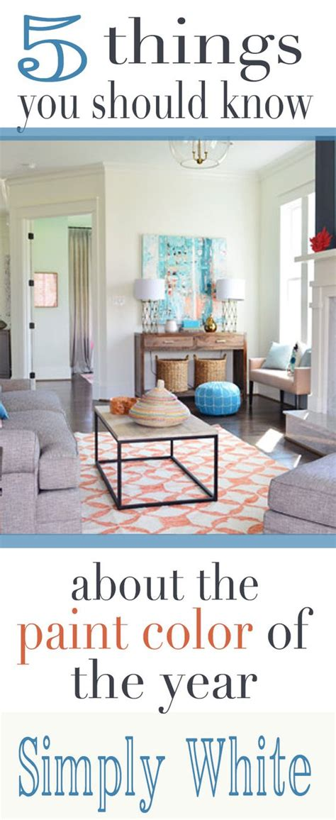 benjamin moore simply white 5 things to know paint colors happy and things to on pinterest